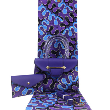 women purses and handbags african wax bag set african wax prints fabric 6yard/lot h191223