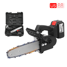 Chain-Saw Fast-Charger Firewood-Cutting Powerful Cordless 21V with Box for Auto-Tension