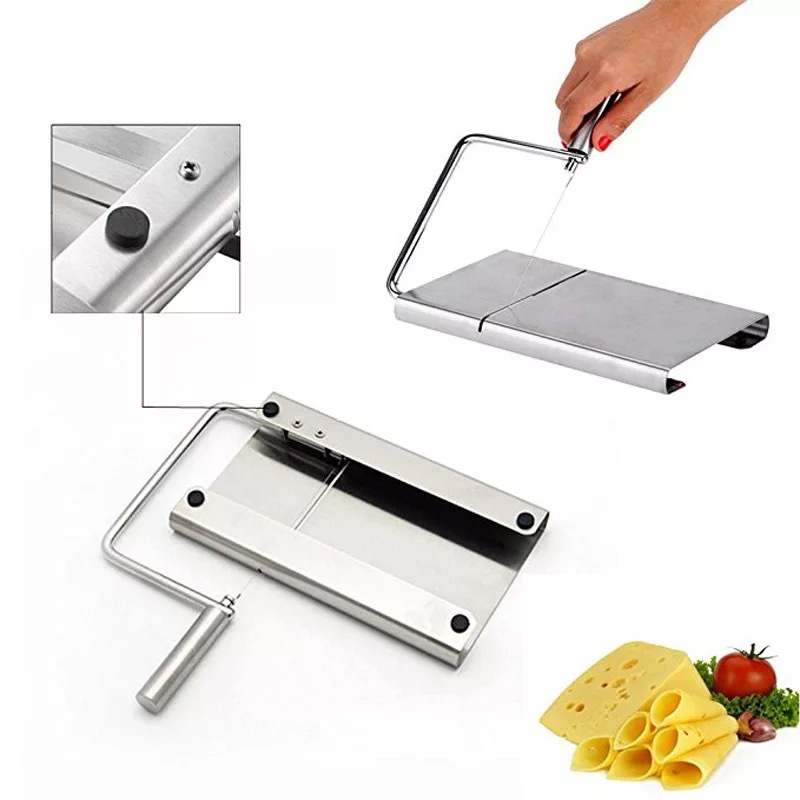 <font><b>Cheese</b></font> Butter <font><b>Slicer</b></font> Cutter Board Cutting Kitchen Hand Tool <font><b>Stainless</b></font> <font><b>Steel</b></font> <font><b>Wire</b></font> <font><b>Cheese</b></font> <font><b>Slicer</b></font> Cutting <font><b>Cheese</b></font> kitchen gadgets image