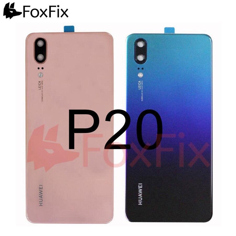 Для Huawei P20 сзади батарея стекло крышка + объектив камеры EML-L09 EML-L29 задняя крышка корпуса Корпус панель для Huawei P20 задняя крышка