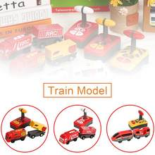 Kid Electric Remote Control Train Toy Magnetic Train Model Locomotive Plaything For Thomases Wooden Track Toys For Children(China)