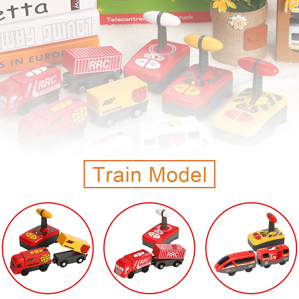 Kid Electric Remote Control <font><b>Train</b></font> Toy Magnetic <font><b>Train</b></font> Model Locomotive Plaything For Thomases Wooden Track Toys For Children image