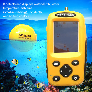 Detector portátil de temperatura del agua con Sensor Sónar inalámbrico y pantalla LCD a Color para ver peces