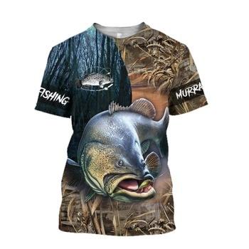 Murray cod camo Fishing T Shirt All Over Print