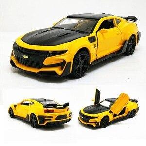 Zhenwei 1:32 Chevrolet Camaro, спортивный автомобиль, литой Сплав, модель автомобиля, игрушка, потяните назад, мигающий, с подарочной коробкой, игрушка дл...