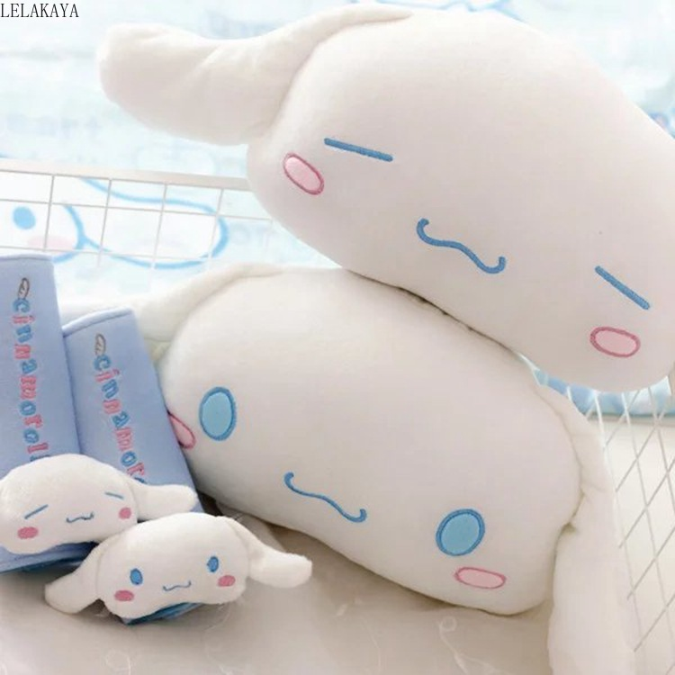 Cute Cinnamoroll Long Ear Pudding Dog Plush Car Bone Neck Pillow Cushion Safety Belt Cover Cartoon Animals Shape Stuffed Toys