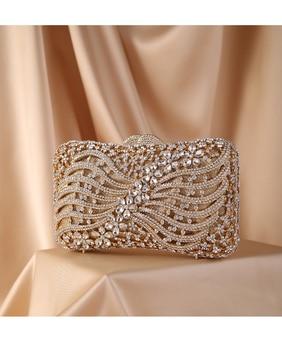 Silver Gold Black Crystal Diamond Beading clutch  1