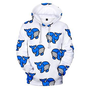 Fashion Design Cartoon Print Small Animal Sweatshirt Men/Female Hoodies Clothing Cute Kids 3D Pullover Hip Hop Harajuku