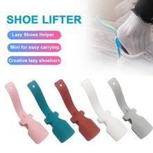 Leniwy pomocnik do butów Unisex nosić łyżka do butów łatwe do zdejmowania butów podnoszenie butów podnoszenie butów tanie tanio shoe slip portable shoehorn Easy on Off Shoe Wear Shoe Helper pregnant women