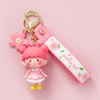 Cartoon Sakura Mädchen Puppe Keychain Charme Llavero Auto Mujer Anhänger Paar Geschenk Telefon Charme Überlegene Qualität Original Design