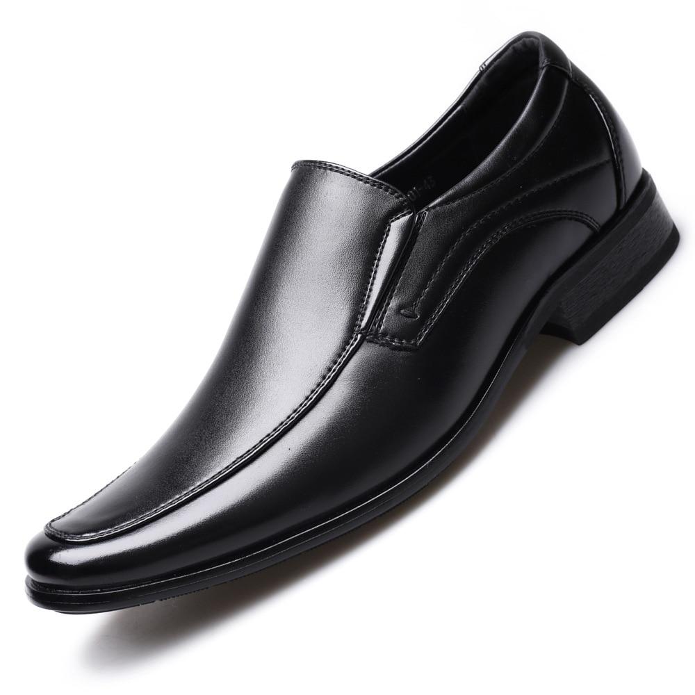 Classic Business Men's Dress Shoes Fashion Elegant Formal Wedding Shoes Men Slip On Office Oxford Shoes For Men 2020