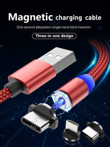 Magnetic USB Cable Fast Charging USB Type C Cable Magnet Charger Data Charge Micro USB