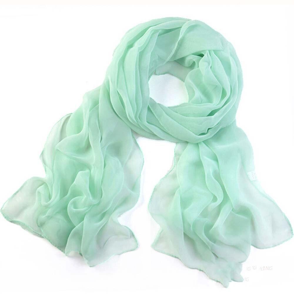 women's   scarf   winter 2019 new fashion silk   scarf   solid Girls Women Long Soft Thin   Wrap   Lady Shawl Chiffon   Scarf   Beach   Scarves