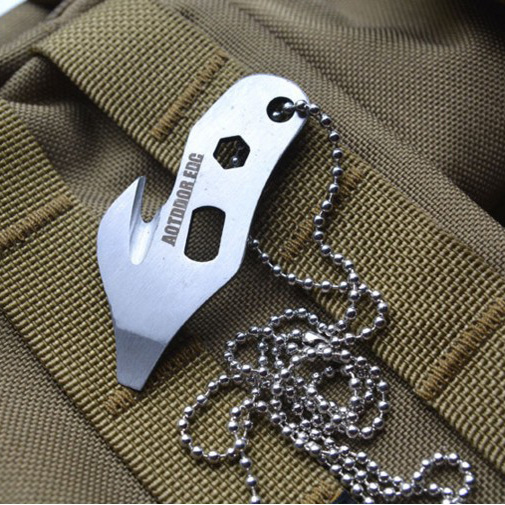 Outdoor Portable Tool Stainless Steel Hooks 5-in-1 Multi-functional Cutter