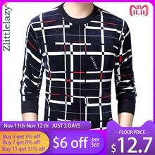 2020 חדש מעצב סוודר משובץ גברים סוודר Mens עבה חורף חם ג רזי סרוג סוודרים Mens ללבוש Slim Fit סריגי 53012