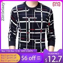 2020 novo Designer de Xadrez Pulôver Dos Homens Camisola Dos Homens de Espessura Inverno Quente Camisa de Malha Blusas Desgaste Dos Homens Slim Fit Malhas 53012
