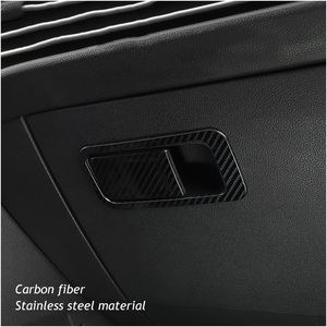 Image 3 - Car co pilot Storage Glove Box Handle Frame Stickers Car Cover Styling 2Pcs/Set For VW Golf 8 MK8 2020 2021 Accessories