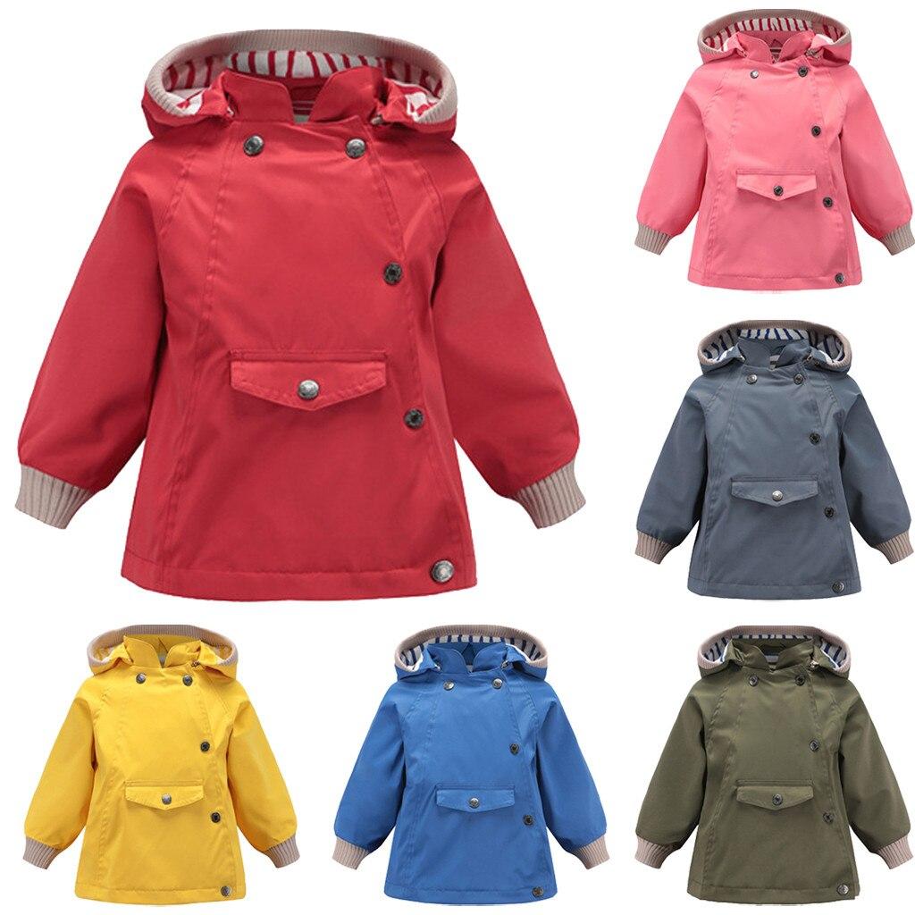 trench   kids   trench   coat girl child coats   trench   coat girls Outwear Windproof Long Sleeve Solid тренч kız çocuk mont куртка дл Z4