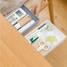 Самоклеящийся пластиковый ящик под столом скрытый поднос для