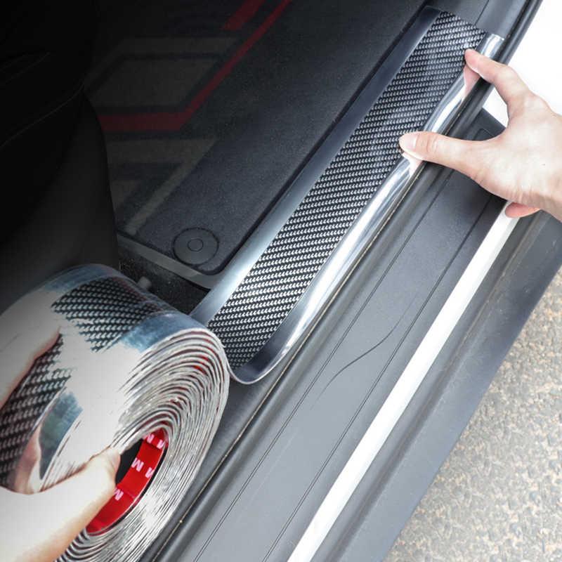 2.5M คาร์บอนไฟเบอร์ยางจัดแต่งทรงผมสติ๊กเกอร์รถประตู Sill Protector สินค้าสำหรับ KIA Toyota BMW Audi MAZDA Ford Hyundai อุปกรณ์เสริม