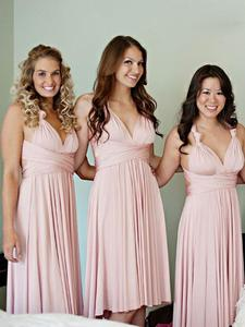 SuperKimJo cheap prom dresses short pink chiffon a-line prom gown