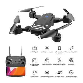 LS11 RC Drone 4K z kamerą HD 1080P Mini składany Dron FPV Wifi drony profesjonalny tryb trzymania quadcoptera podwójne aparaty zabawki chłopięce