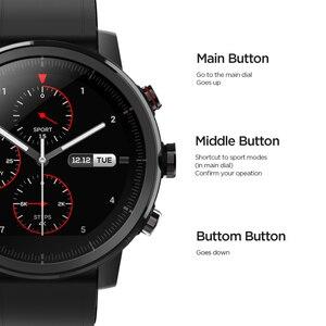 Image 5 - Оригинальный Amazfit Stratos Смарт часы Bluetooth GPS подсчет калорий монитор сердца 50 м Водонепроницаемый для iOS и Android телефон
