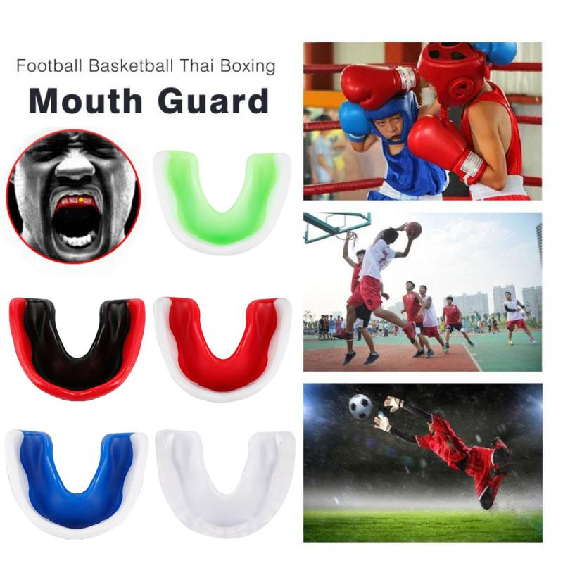 Professional Soft EVA Mouth Guard Adult Karate Muay Safety Mouth Protective Teeth Guard Sport Football Basketball Thai Boxing 7