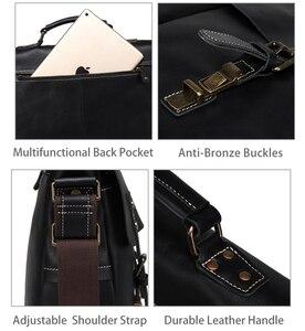 Image 5 - VASCHY Full Cowhide Leather Briefcase for Men Handmade Leather Messenger Bag Vintage Satchel 15.6 Laptop Business Shoulder Bag