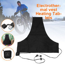 Mobile Warm Gear Heated Pad Electric Heating Pads USB Black Vest Jacket Warmer Cushion Clothing Accessories Durable