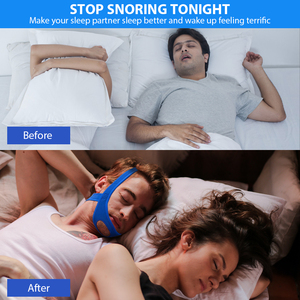 Image 3 - 新ネオプレンアンチいびきストップいびきチンストラップベルト抗無呼吸顎ソリューション睡眠サポート時無呼吸ベルト睡眠ケアツール