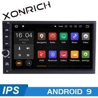 72GB AutoRadio 2 din Android 9 GPS Car Universal Multimedia For Nissan Note Qashqai Xtrail Juke Almera Head Unit stereo Navigation