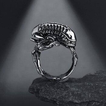 Cool Rings Gothic Deep Sea Squid Octopus Ring Vintage Wolf/Deer/Leaf/Superman/Dargon/Snake Rings Halloween Anillo Hombre Bijoux 5