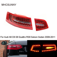 Inner Outer Tail Light for Audi A6 C6 S6 Quattro RS6 Saloon Sedan 2009 2011 LED Tail Lamp Assembly 4F5945095J 4F5945096J