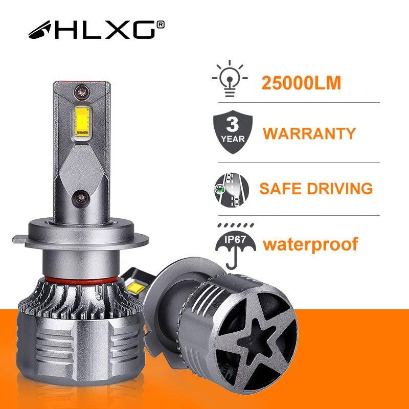 HLXG Canbus h7 светодиодный фонарь H4 светодиодный фонарь H11 HB4 9006 HB3 9005 Автомобильная противотуманная фара для мотоцикла 25000LM Высокая мощность холодный белый CSP Turbo лампочки автомобильные ходовые огни|Передние LED-фары для авто|   | АлиЭкспресс