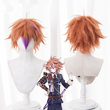 цена на Game Touken Ranbu Online Gotoutoushirou Cosplay Wig Brown Heat Resistant Synthetic Hair Peruca Anime Costume Wigs