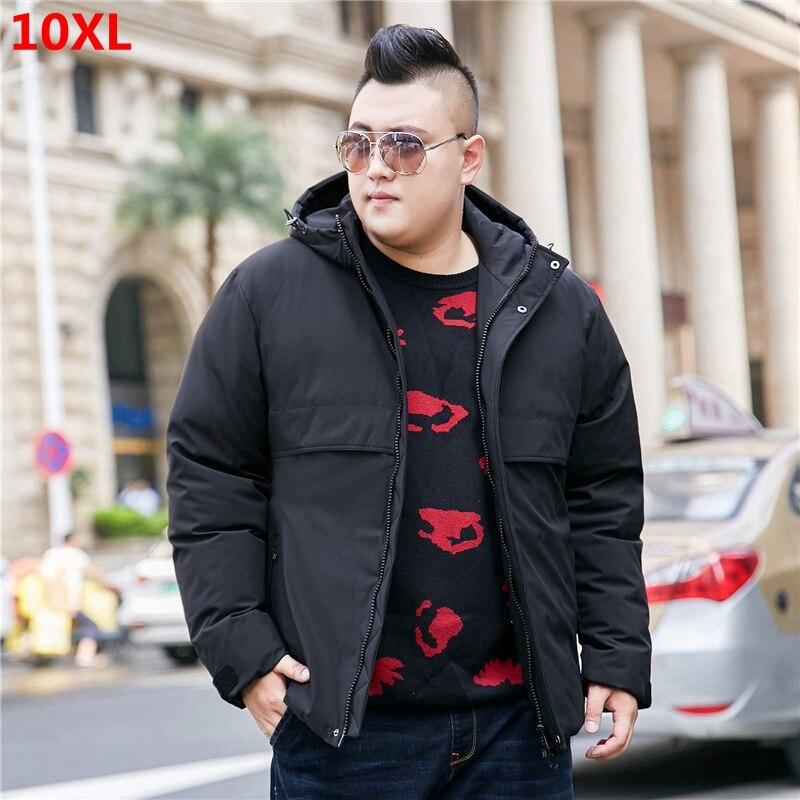 Nouveau hommes grande taille à capuche grande taille hommes mode décontracté doudoune veste d'âge moyen grande taille manteau d'hiver 10XL 9XL 8XL 7XL