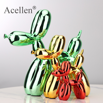 Plating balloon dog Statue Resin Sculpture Home Decor Modern Nordic Decoration Accessories for Living Room Animal Figures