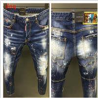 F.N.JACK Jeans men Ripped jeans for men Zipper Fly Straight denim pants Casual man jean Hiphop Jean homme Vaqueros hombre