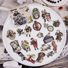 40 Pcs/lot Retro Stickers  Vintage Christmas Manor Ancient Greece Angel DIY Planner Book Material Scrapbooking Sticker