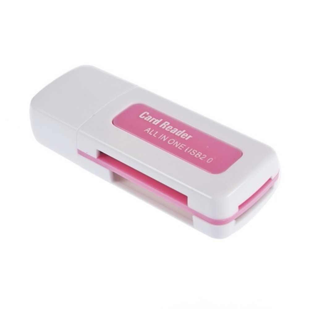 2018 جديد بروتابلي USB 2.0 4 في 1 ذاكرة متعددة قارئ بطاقات ل M2 ل SD ل SDHC DV مايكرو ل تأمين بطاقة رقمية TF بطاقة