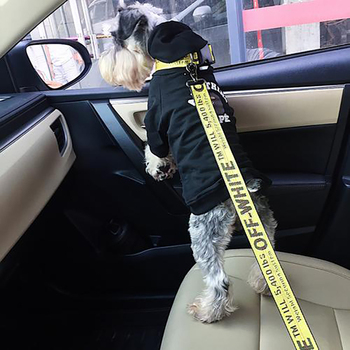 Off Fashion White Vehicle Car Pet Dog Seat Belt Lead Clip Supplies Safety Auto Traction