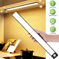 Luz Led nocturna con Sensor de movimiento para armario, iluminación magnética para cocina, armario ligero