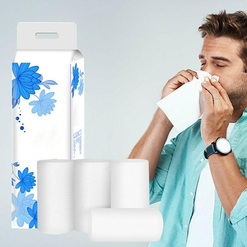 12 Roll Strong Soft 4-Ply Toilet Paper Bath Tissue Bulk Roll Skin-friendly A66