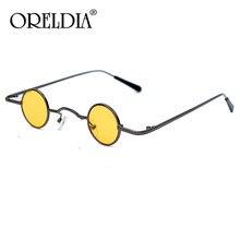 Small Round Steampunk Sunglasses Women Vintage Colorful Circle Mirror Red Yellow Sun Glasses Men Eyeglasses Retro Eyewear UV400