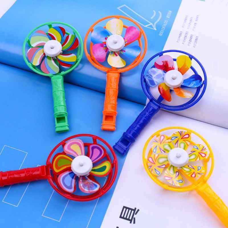 Cor plástica moinho de vento crianças brinquedo pequeno prêmio memórias infância jogar adereços brinquedos y4ud