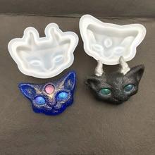 Узор кошки DIY Кристалл эпоксидная форма ручной работы мыло кошка модель делая Инструмент Практичный силикон орнамент ювелирный кулон декоративная форма