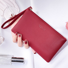 1 PCS New Ladies Long Casual Wallet Mini Mobile Phone Zipper Money Ladies Long Clutch Change Purse Card Holder Holiday Gift