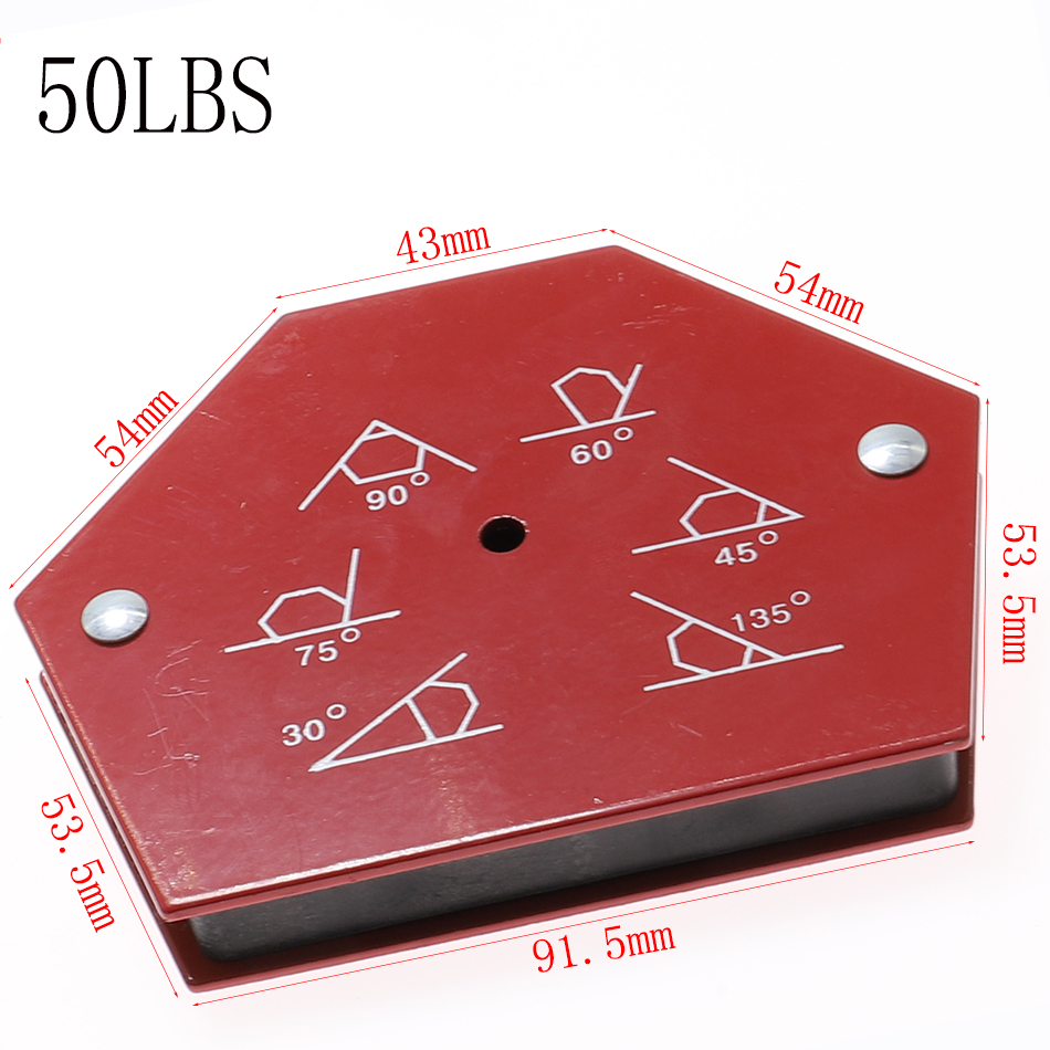 50LBS Hexagon Welding Positioner Magnetic Fixed Angle Soldering Locator Tools Without Switch Welding Accessories