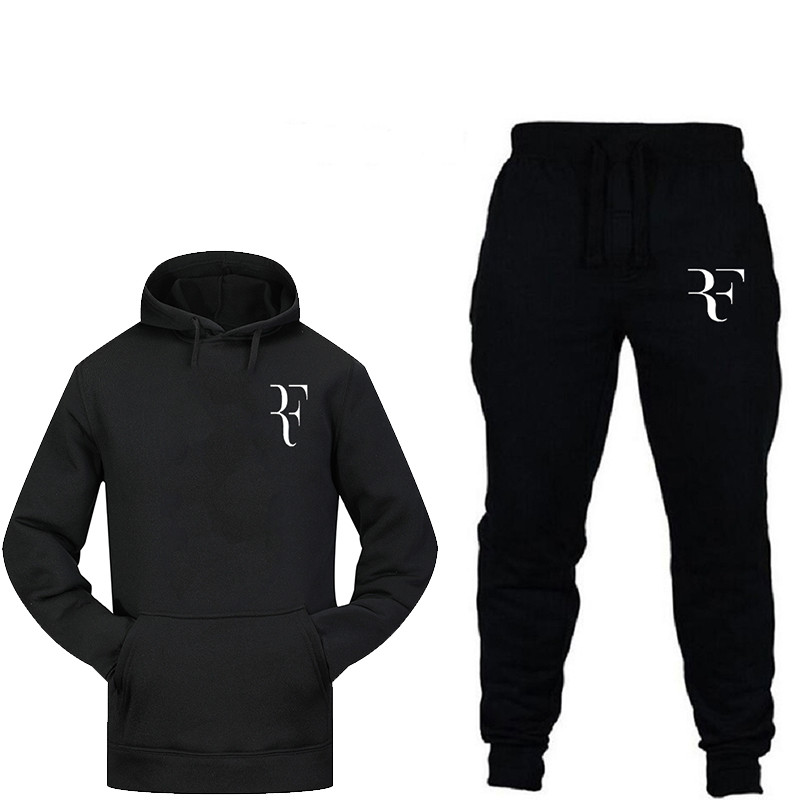 2019 New Fashion Sweatshirt With Men's Thermal Sportswear Printed Sportswear Jogging Sports Pants Suit